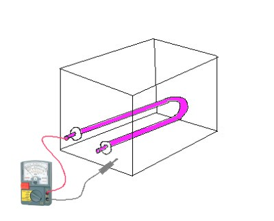 水槽とヒーター測定中