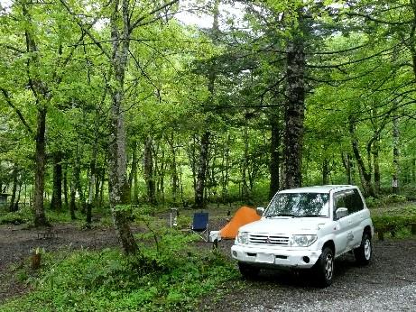 平湯でキャンプ