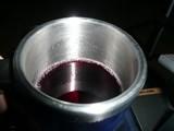 コップ赤ワイン