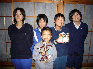 12月14日 5人姉妹弟