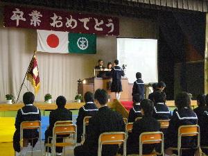 すみれ卒業式2