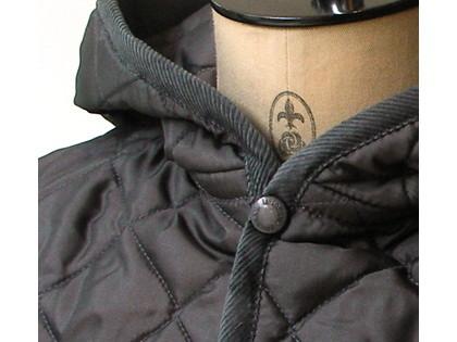 Lavenham Craydon/ラヴェンハムのフーデッド・キルティングジャケット。