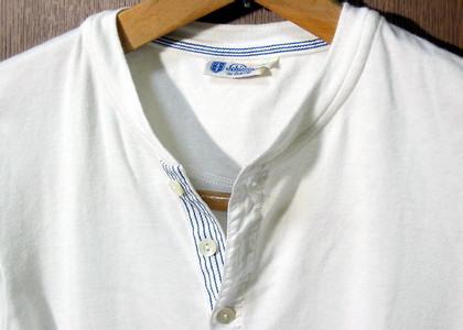 シーサー(Schiesser)のヘンリーネックTシャツ。