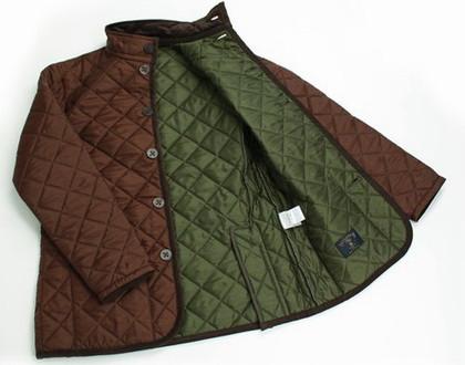 LAVENHAM×GLENROYAL×SHIPSのキルティングジャケット。