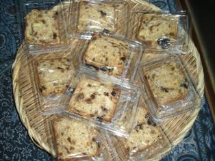 木の実入りのケーキ(砂糖、油なし・豆乳入り)