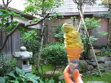 野田屋茶店 抹茶ソフト
