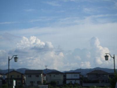 8月最後の雲