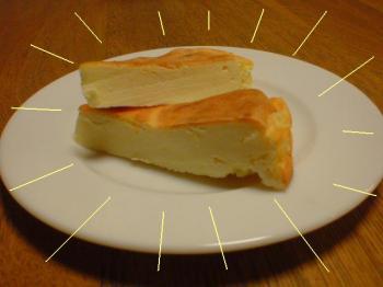 チーズケーキ登場!