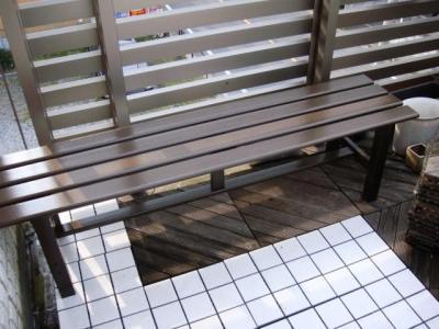 屋上 4 アルミのベンチ