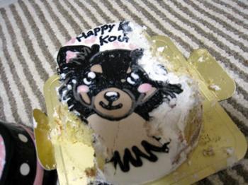 ケーキ食べかけ