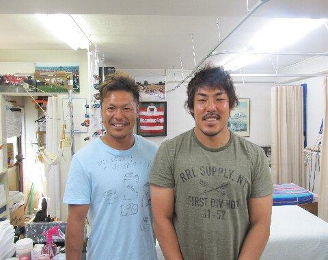 伊藤選手と水山選手