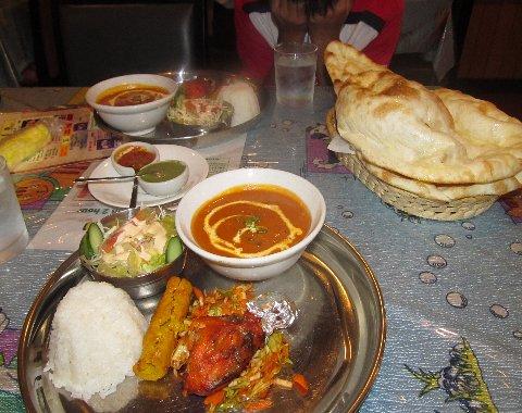 健介と食べたMahekの料理