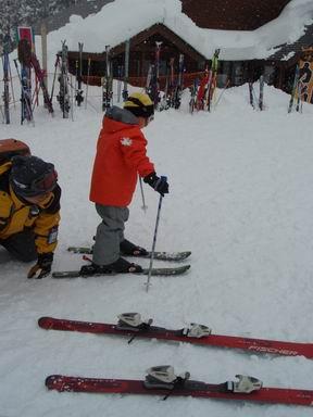 初めてスキー