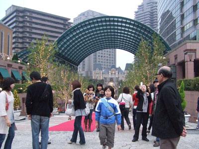 恵比寿ガーデンプレイスのクリスマスイルミネーション 記念写真