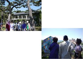 旧日本軍屋敷の跡地にて