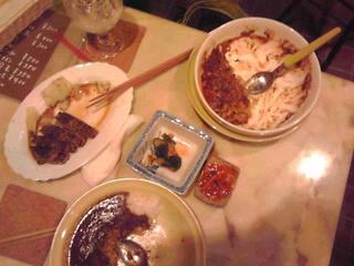 ペッパーステーキ、カレー、カレードリア