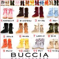 【予約】BUCCIA・リボンムートンブーツ