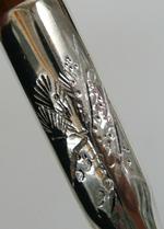 純銀鍍金彫入‐月
