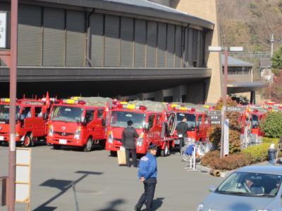 消防自動車、勢ぞろい