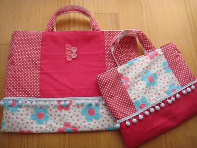 新入学袋2つ