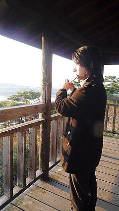 P1000947空と夕日と笛ふく少年1