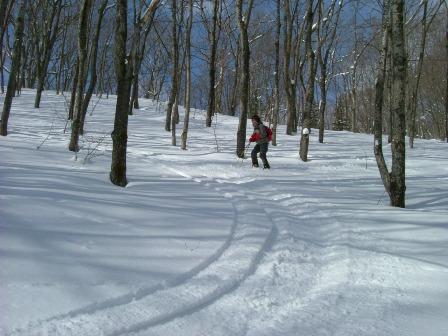 山スキー練習!