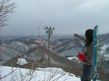 山頂から札幌市内を眺める~