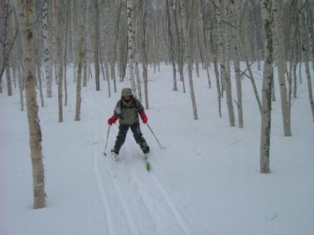 山スキー!