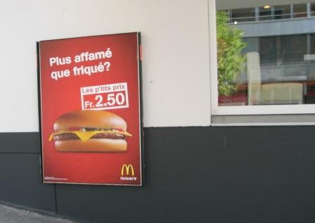 チーズバーガー2.5フラン