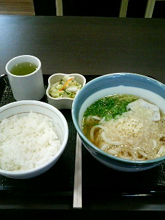 08年07月16日なか卯/食事