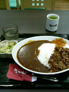 08年07月30日なか卯/食事