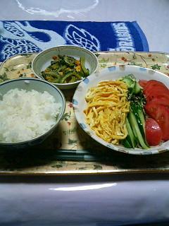 08年08月07日我が家の夕飯