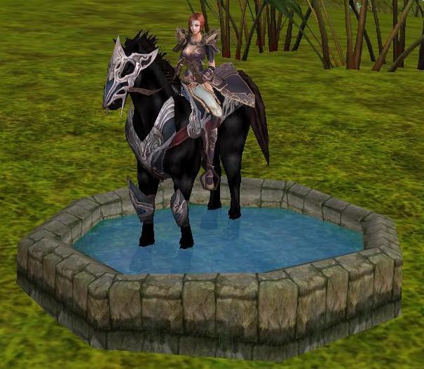 お馬の足湯♪