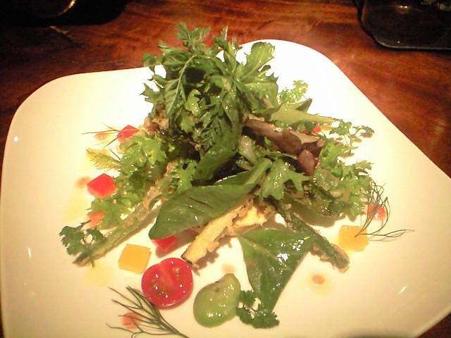 桜鯛のブランタード 春野菜のサラダ添え
