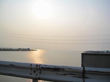 霞ヶ浦の夕方