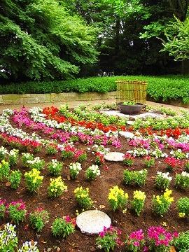 ボランティアによる花壇