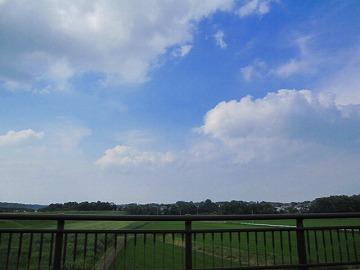次の公園の途中、空が綺麗だったっぴ・・・