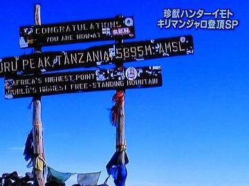 ここはキリマンジャロの山頂・・・