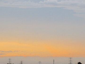 今日の夕焼け空