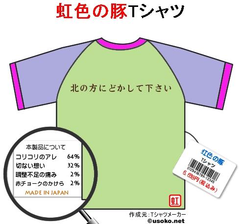 虹色の豚 Tシャツ