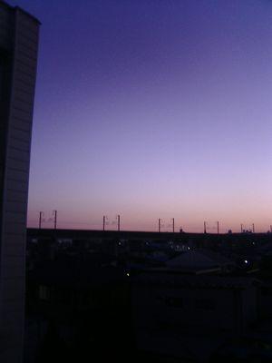窓からの風景。