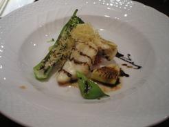 ラ・クチーナ 魚料理 すずきのソテーバルサミコソース