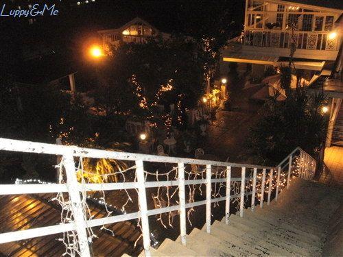 テラッツォに続く階段