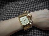ゴールドの時計とヴァンドームのブレス