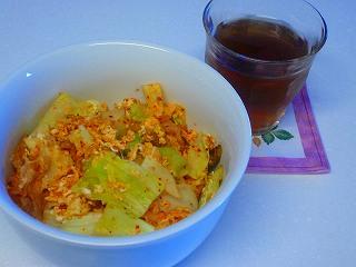 キャベツ+卵+キムチ丼