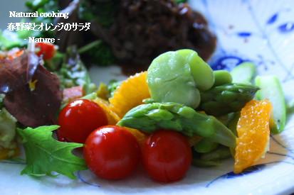 オレンジと春野菜のサラダ
