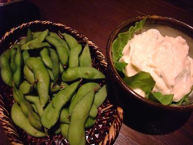 枝豆&ポテサラ