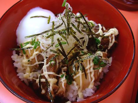 ミニ肉盛り丼+卵