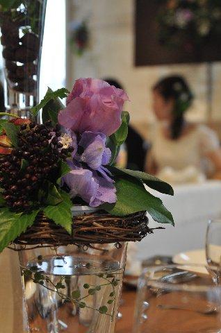 結婚式で2