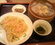 ショウロンポーと海老炒飯